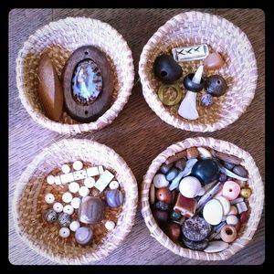Bead craft creative brown & organic, naturel lot